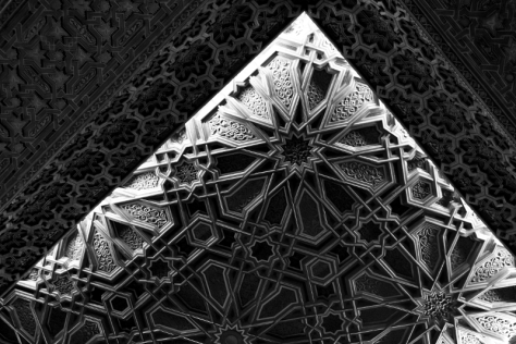 CG5_5953 Mosque ceiling star B&W scaled